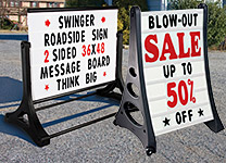 Roadside Large-Format Message Signs