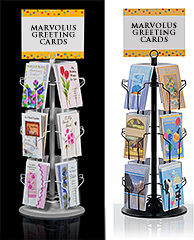 Greeting card display racks in multiple sizes marvolus store fixtures 12 pocket greeting card counter displays m4hsunfo