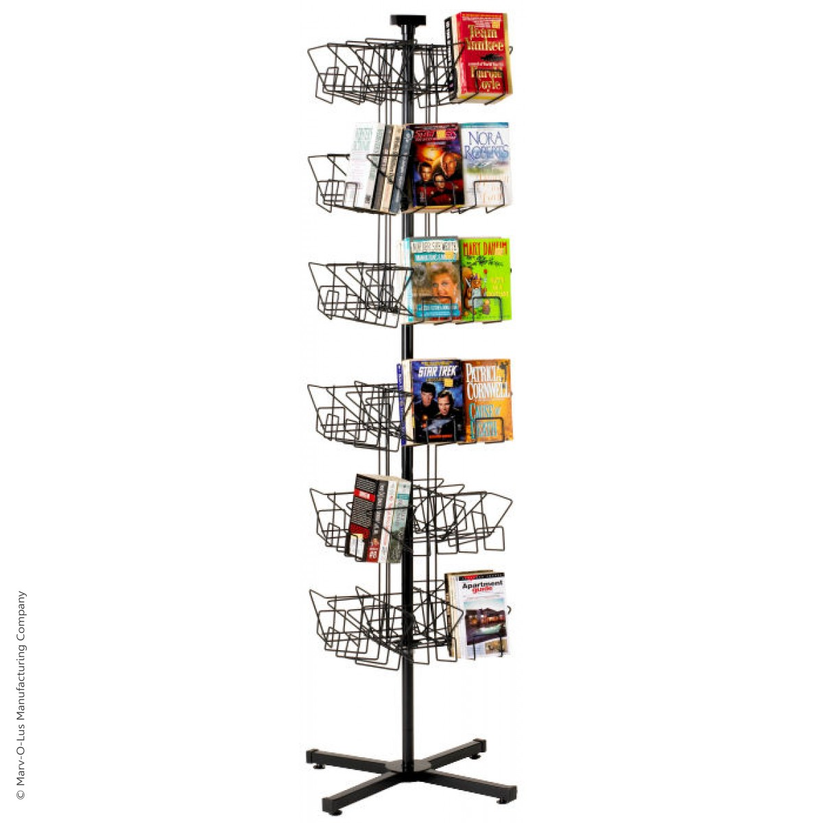 48-Pocket Book Spinner Display Stand for Floor - Stock ...