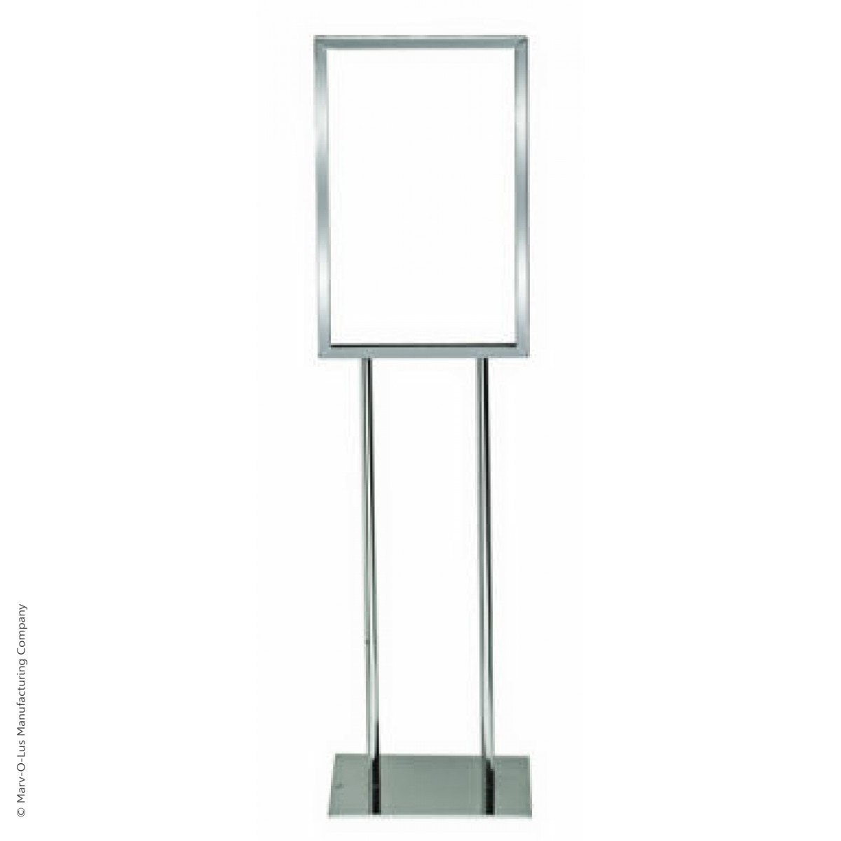 14quot x 22quot poster frame bulletin sign stand chrome
