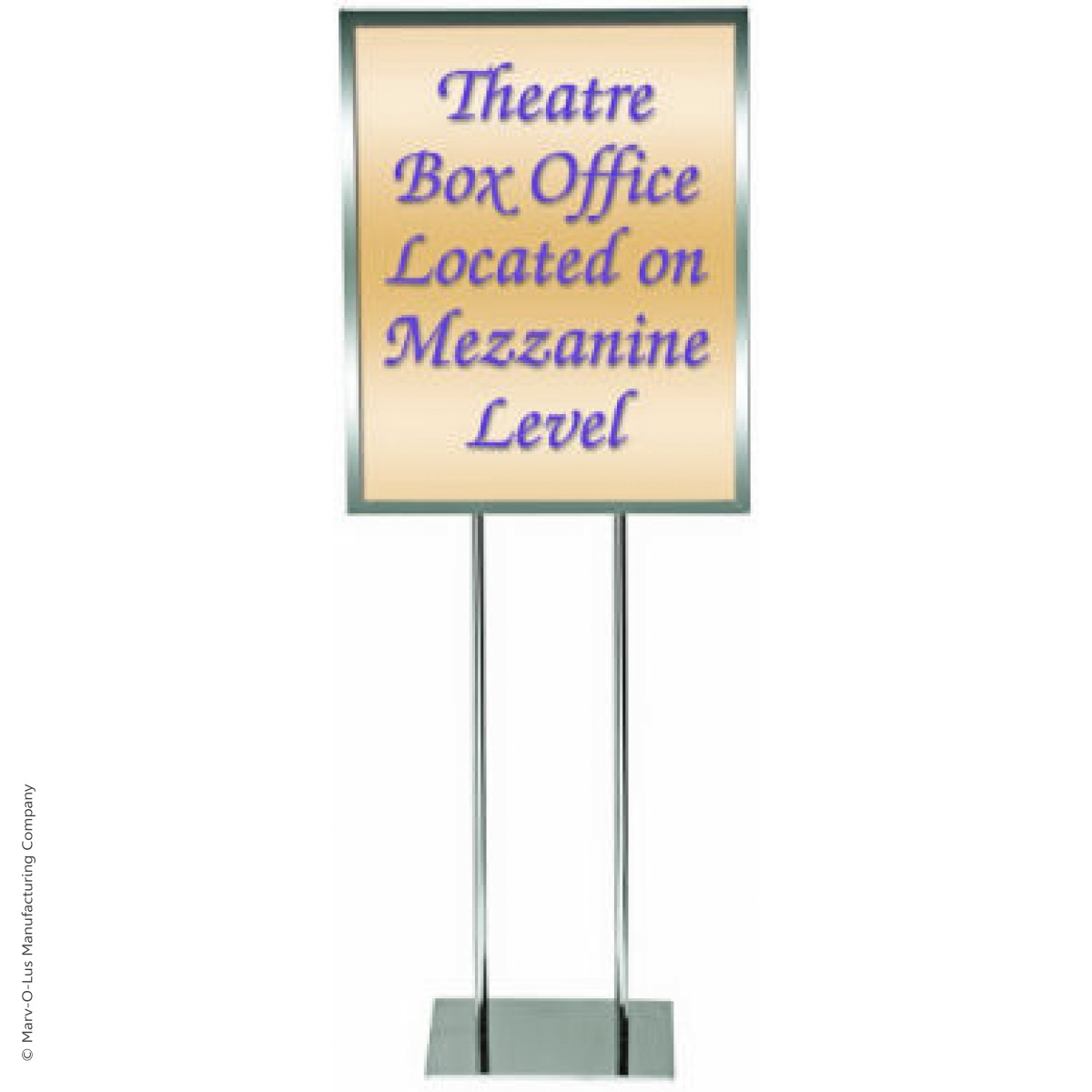 Home 22u0026quot; x 28u0026quot; Poster Frame Bulletin Sign Stand (Chrome)