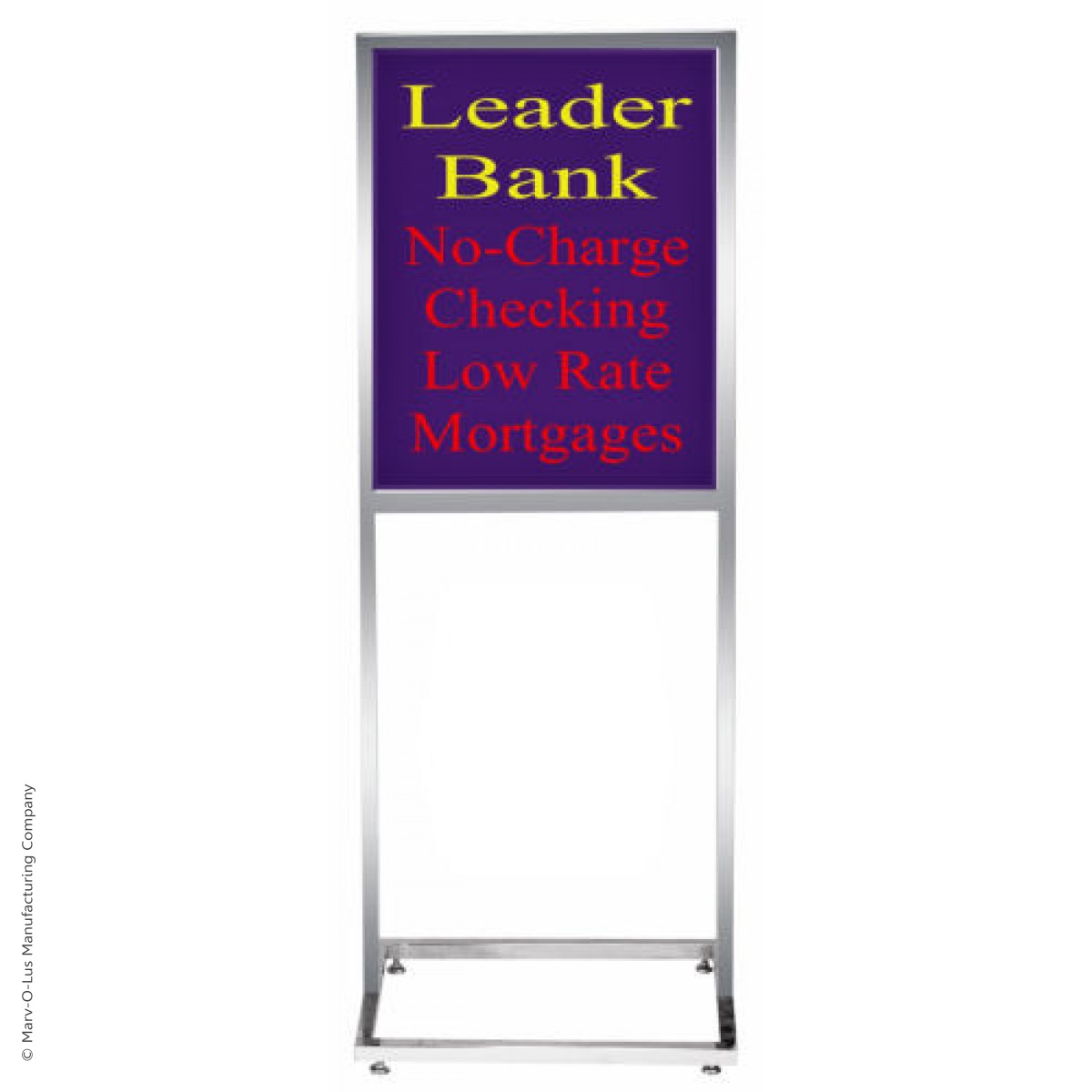 14quot x 22quot deluxe poster frame bulletin sign stand chrome