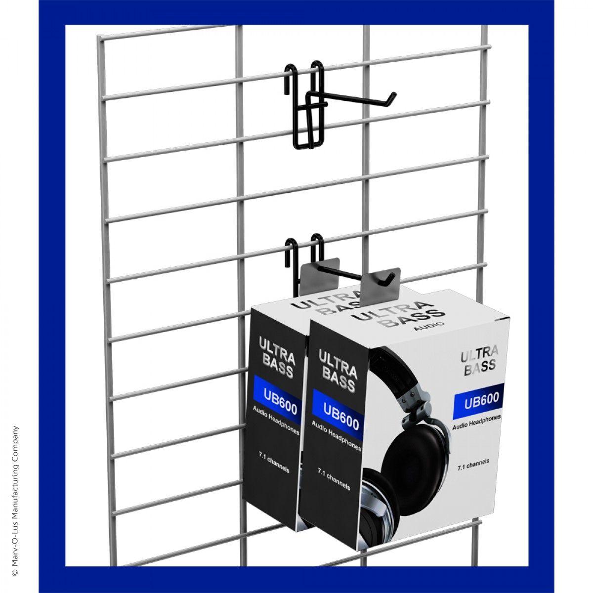 3 Sided Grid Panel Floor Spinner Retail Display 48 Quot X 16 Quot