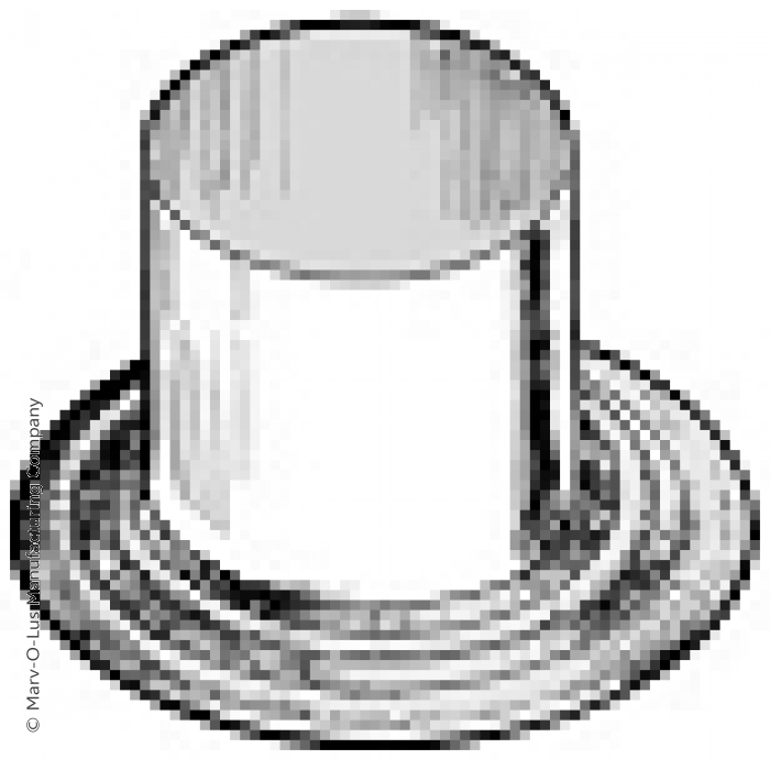 "1-Piece Flanged Tube for 0.75"" Diameter Tubes"