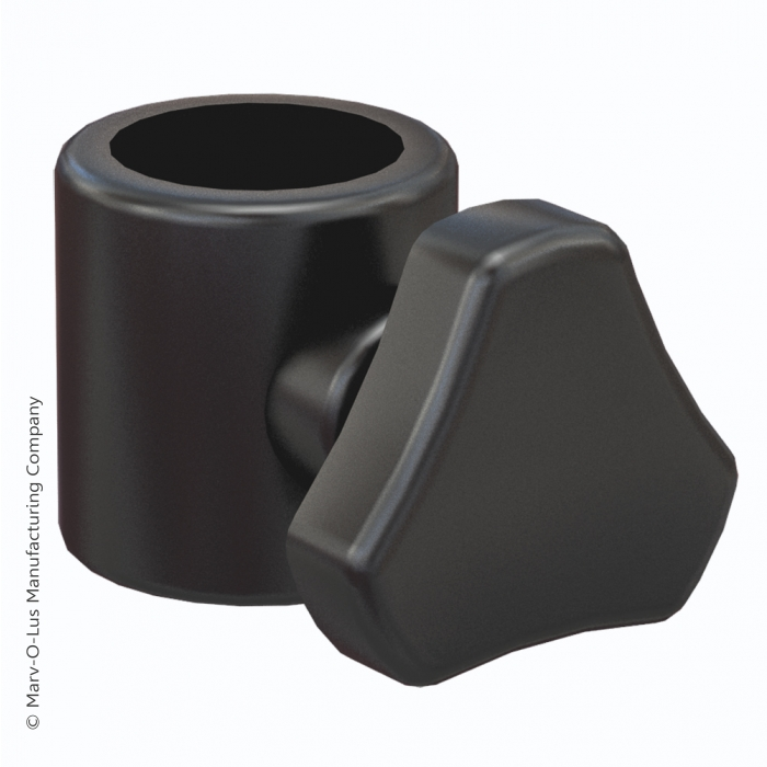 "Thumb Screw Clamp - Black (for 0.75"" display tubes)"