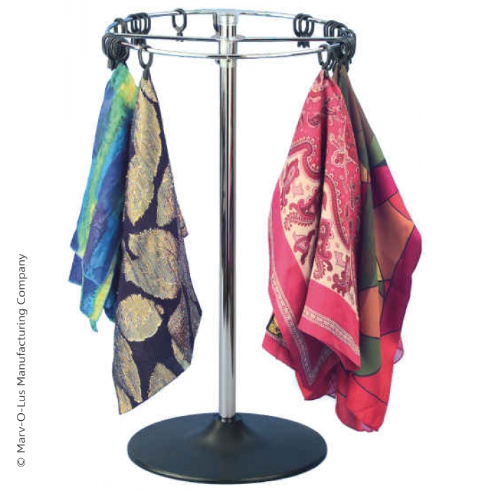 Scarf and Handkerchief Countertop Rack with 72 Clips