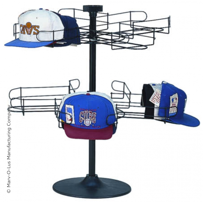 8-Pocket Cap-A-Rama Countertop Spinner Rack for Baseball Caps