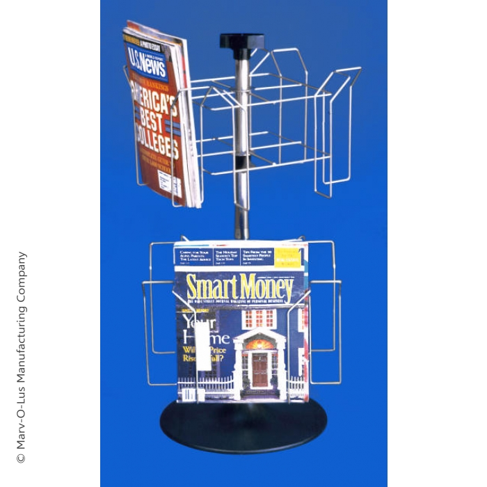 "8-Pocket Countertop Spinner Rack for 8.5""W x 11""H Literature"