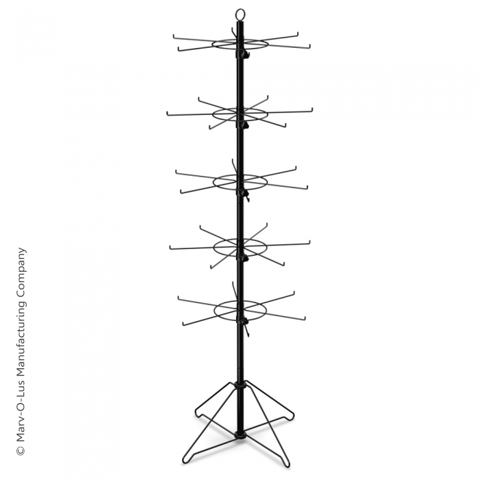 """30-Hook Floor Display for Merchandise up to 5"""" Wide (Wire Base)"""