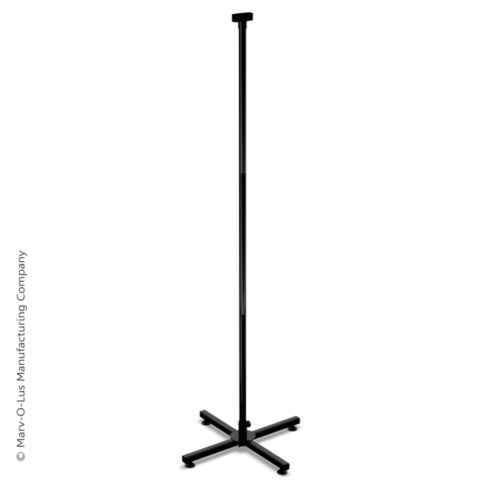 Medium-Duty Steel Floor X-Base with Levelers & Display Tubes (Black)