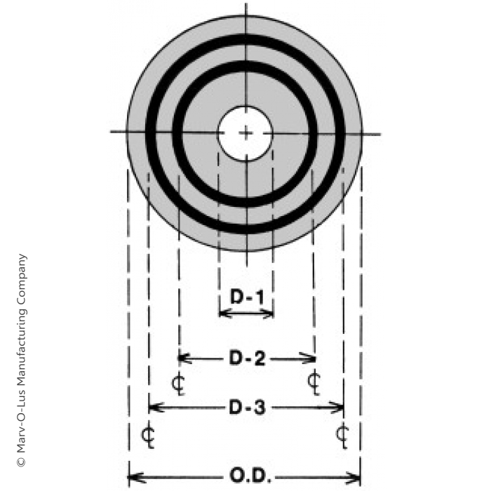 """Double-Ring Welding Washer for 1.5"""" Diameter Tubes (3"""" O.D. x 16 gauge)"""