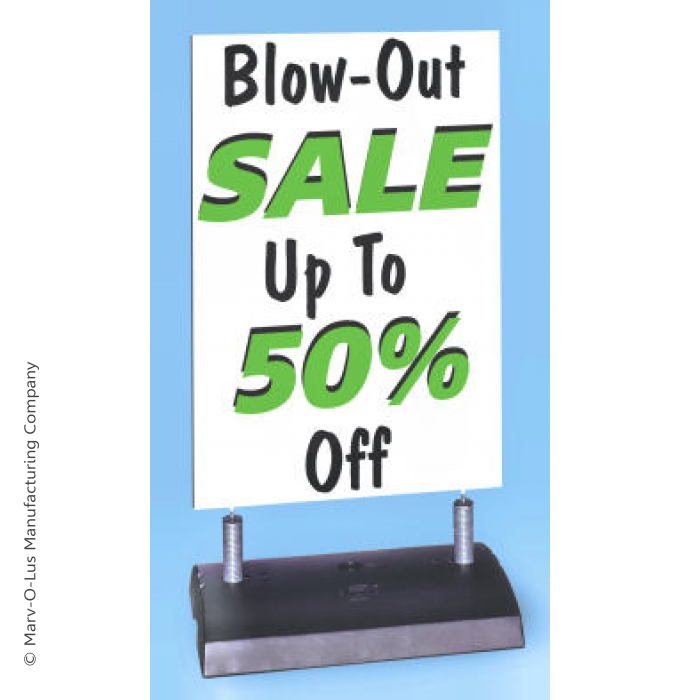 Springer Ready 4 Graphics Outdoor Display with White Sign Blank