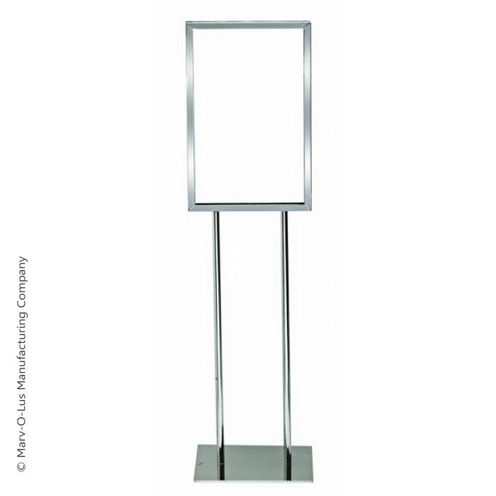 "14"" x 22"" Poster Frame Bulletin Sign Stand (Chrome)"