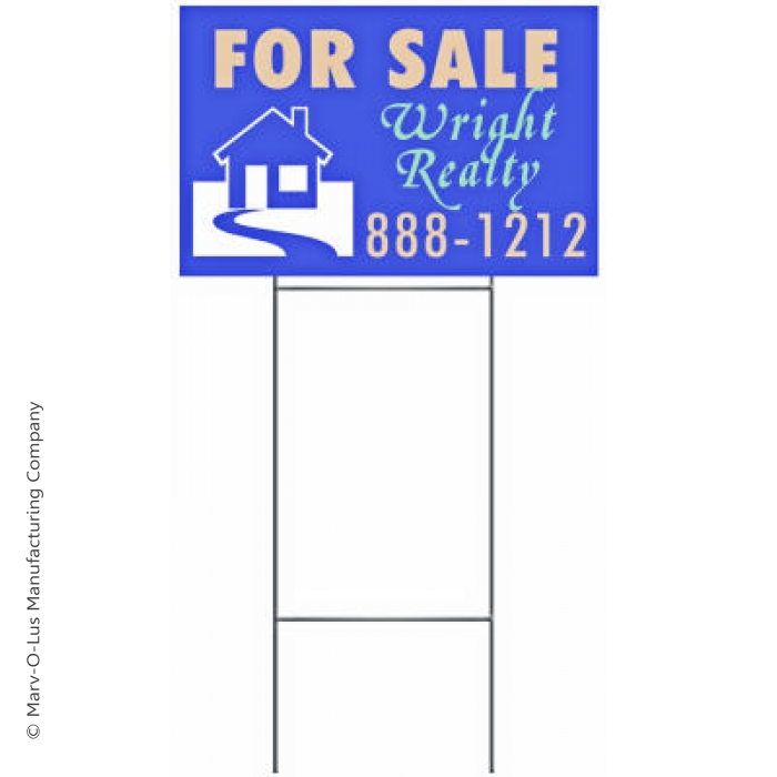 "Double Shaft 10"" x 30"" Step Stake for 18"" x 24"" Lawn Signs (PACK OF 50)"