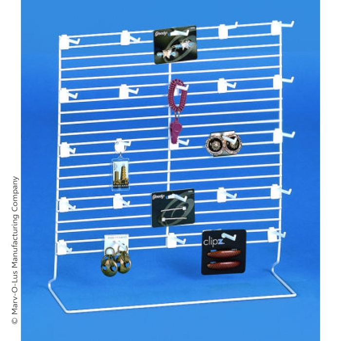 """20""""H x 18""""W Customizable Parallel Wire Panel Countertop Display (CASE OF 10)"""