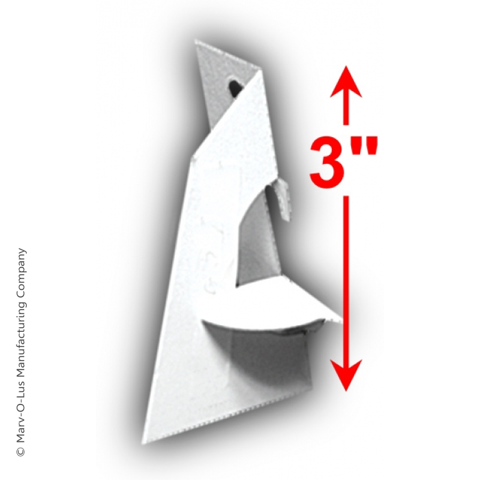 """3"""" Easel Back with Mounting Tape (100 units)"""