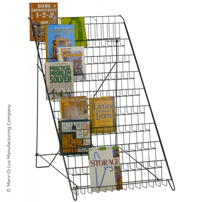 Open Shelf Floor Literature Rack