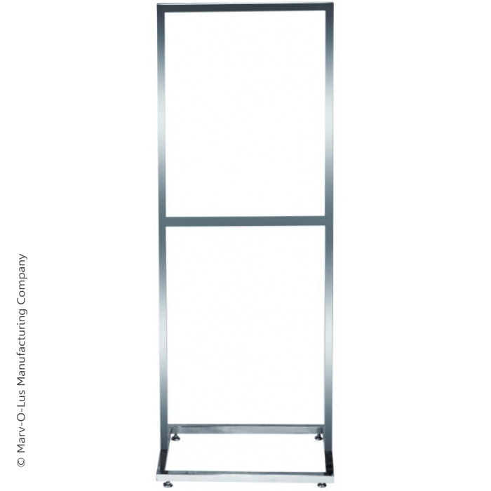 """22"""" x 28"""" Deluxe Poster Frame Bulletin Sign Stand (Chrome)"""