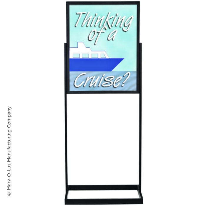 "22"" x 28"" Deluxe Poster Frame Bulletin Sign Stand (Black)"