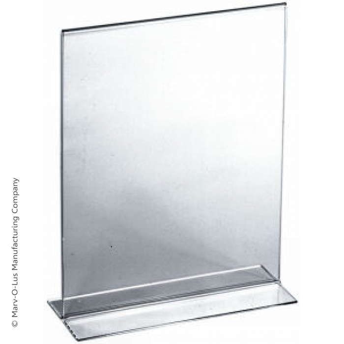 "Acrylic Bottom Load Card Holder for 7""H x 5.5""W Table Signs"