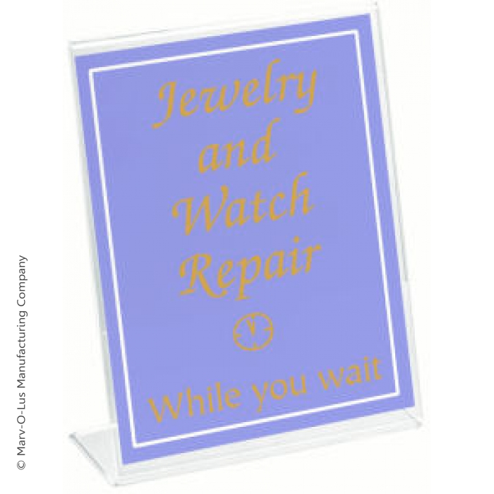 """Acrylic Slant Back Card Holder for 7""""H x 5""""W Table Signs (case of 48)"""