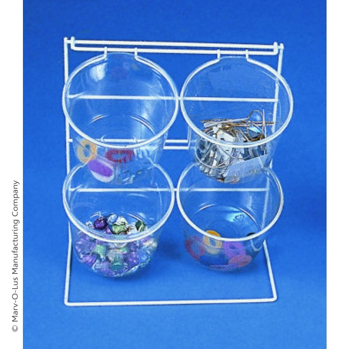 4-Jar Countertop Display Rack with Clear Jars (PACK OF 2)