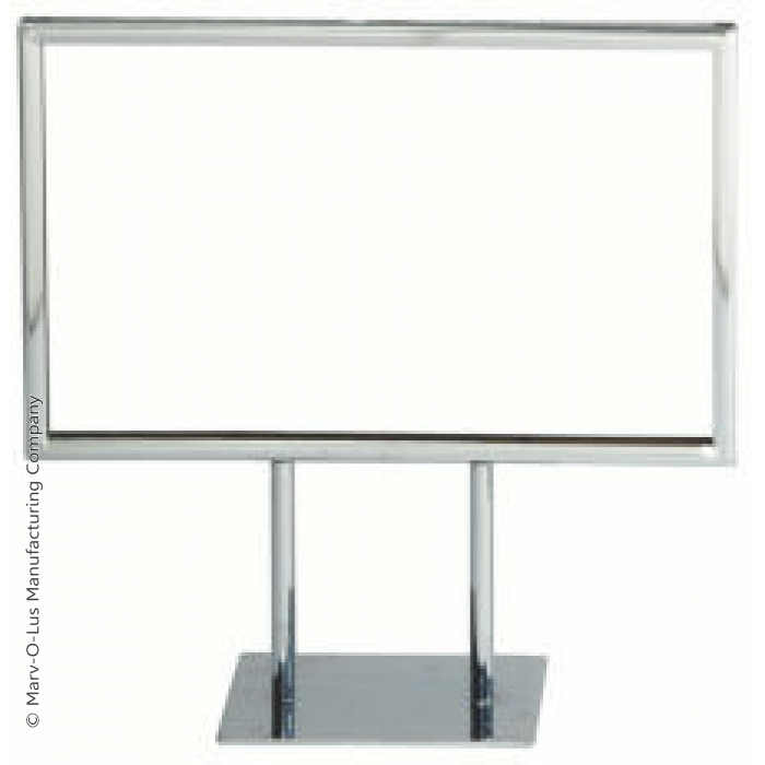 """Chrome Frame Double-Stem for 7""""H x 11""""W Table Signs (Case of 25)"""