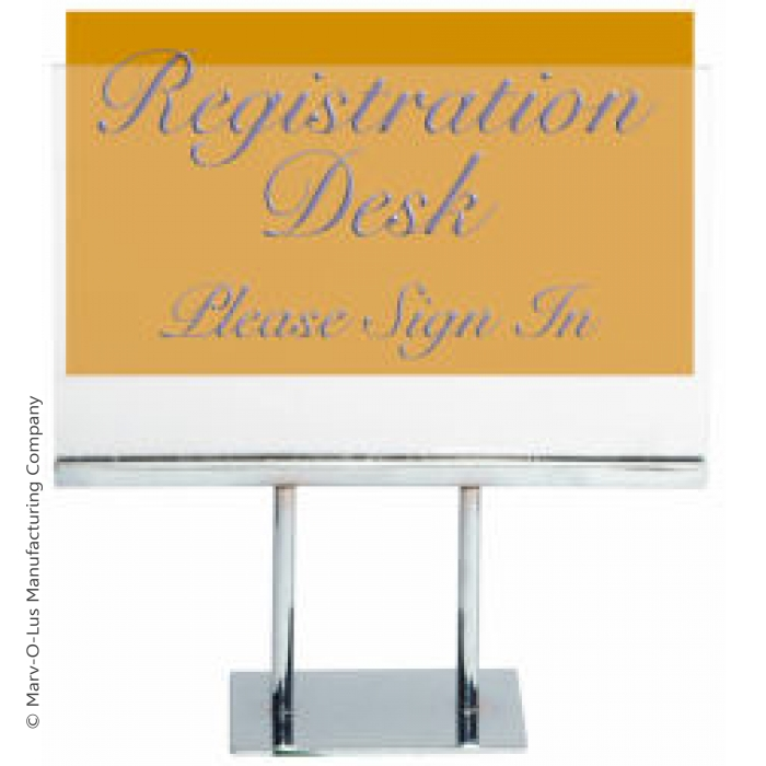 "Acrylic Double-Stem for 7""H x 11""W Table Signs"