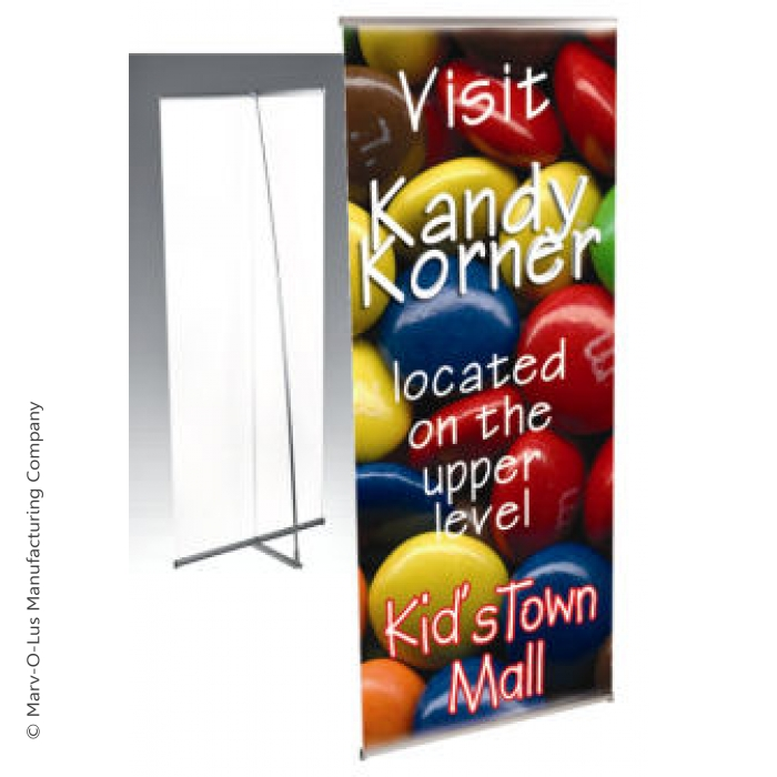 "Deluxe L-Banner Portable Stand for 36"" x 84.5"" Banners (Silver)"