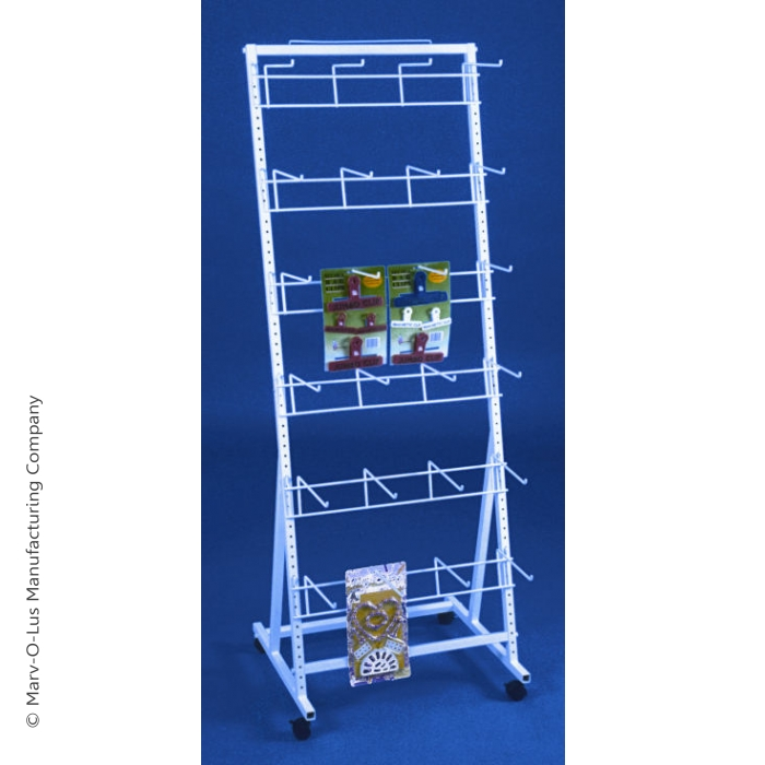 24-Hook Versa-Rack Merchandiser Floor Display with Casters