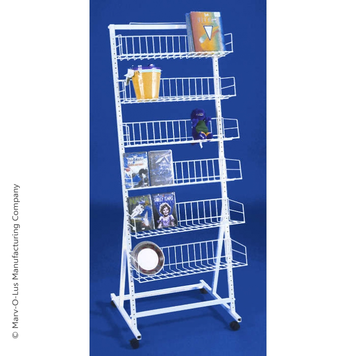 6 Shelf Versa-Rack Merchandiser Floor Display with Casters