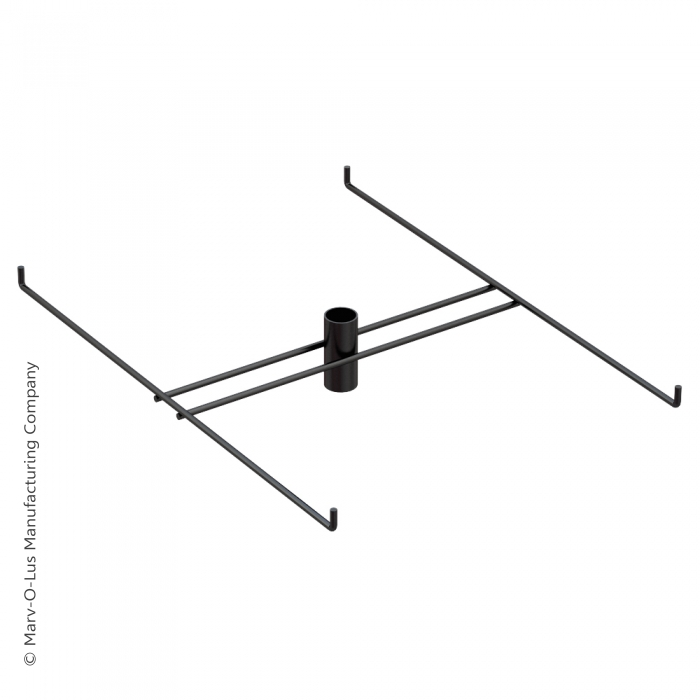 "4-Hook Tier for Packages up to 10.25"" Wide (Black)"