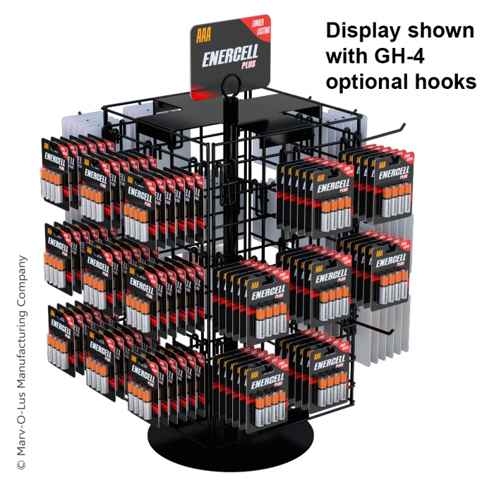 """4-Sided 21"""" x 12"""" Wire Grid Panel Countertop Spinner Display"""
