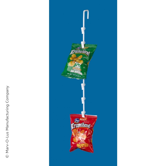 6-Clip Snack Food Display Wand