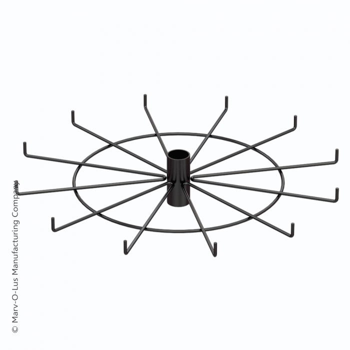 """12-Hook Spoke Tier for Packages up to 2"""" Wide (Black)"""