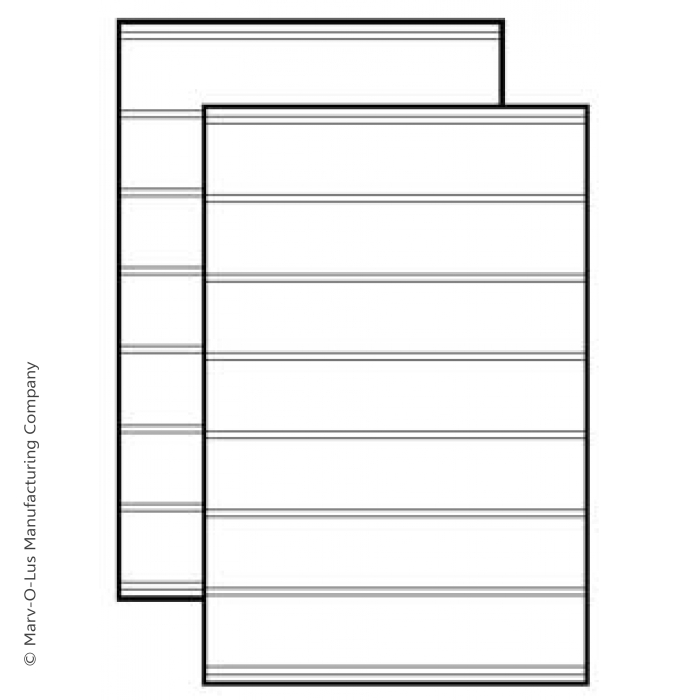 Replacement Message Board Sign Panel (white) with Tracks for Springer