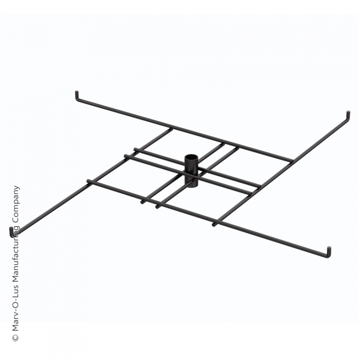 """4-Hook Tier for Packages up to 16.5"""" Wide (Black)"""