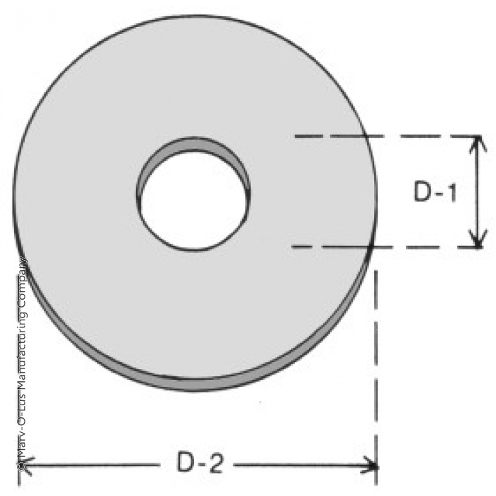 "Flat Washer for 0.75"" Diameter Tubes (1.75"" O.D. x 18 gauge)"
