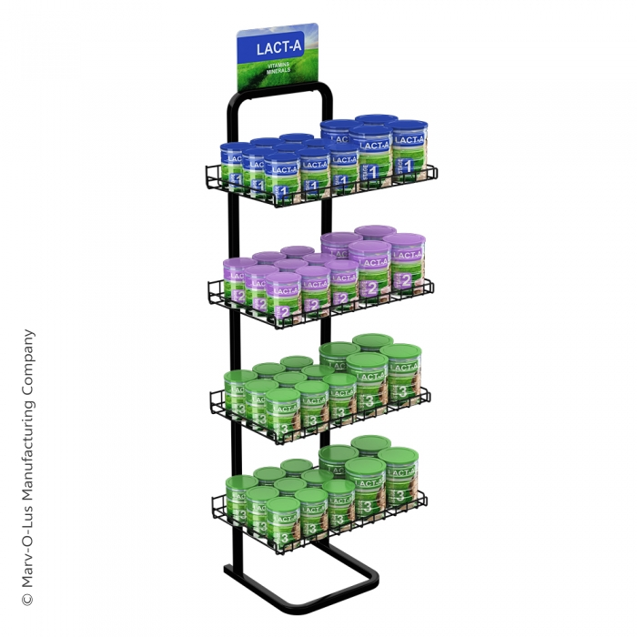 4 Shelf Single Sided Marvelous Merchandiser Floor Display