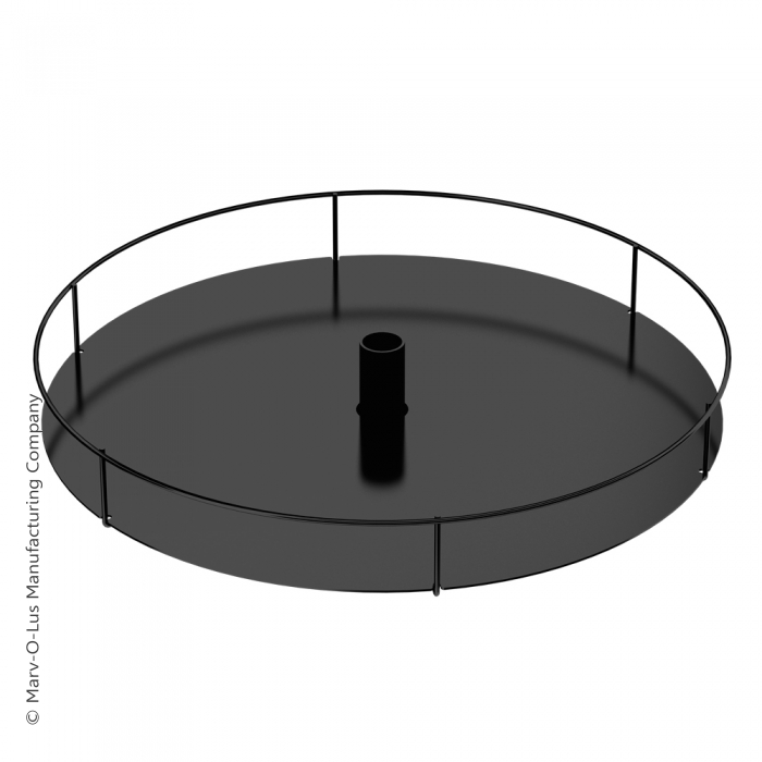"18"" Diameter Display Tray (Black)"