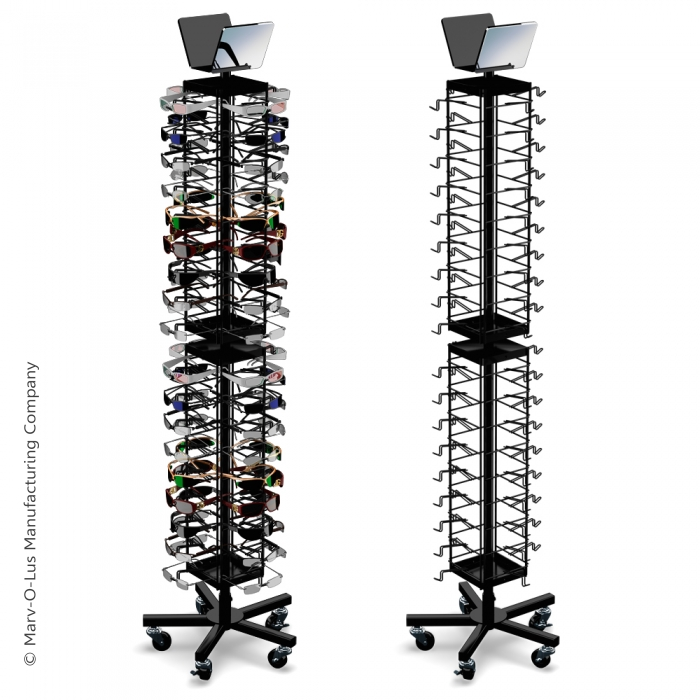 Economical 72 Sunglasses Retail Floor Spinner Display Rack