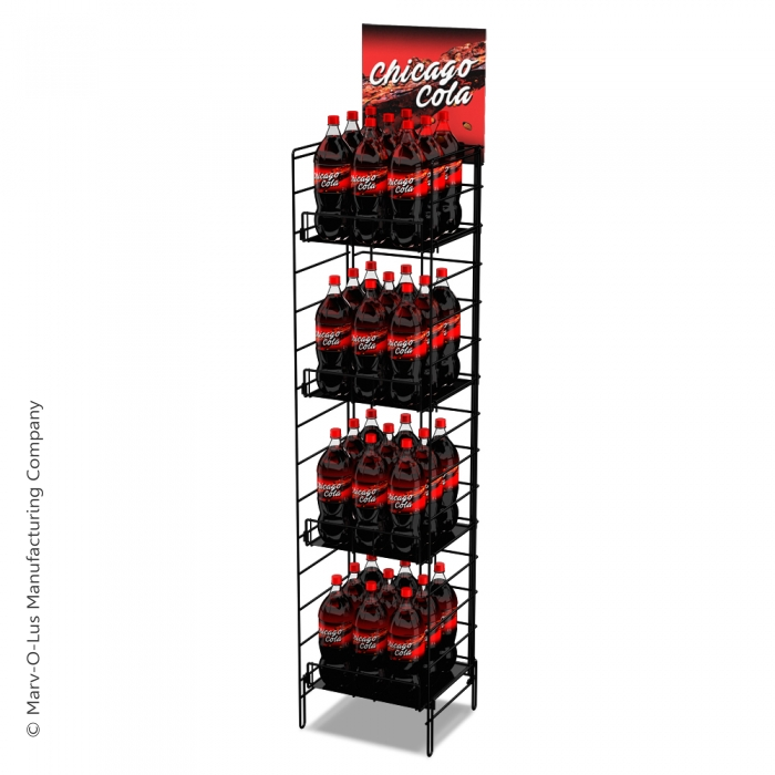 "Fold-Up Floor Display (16"" Wide) with 5 Reinforced Shelves"