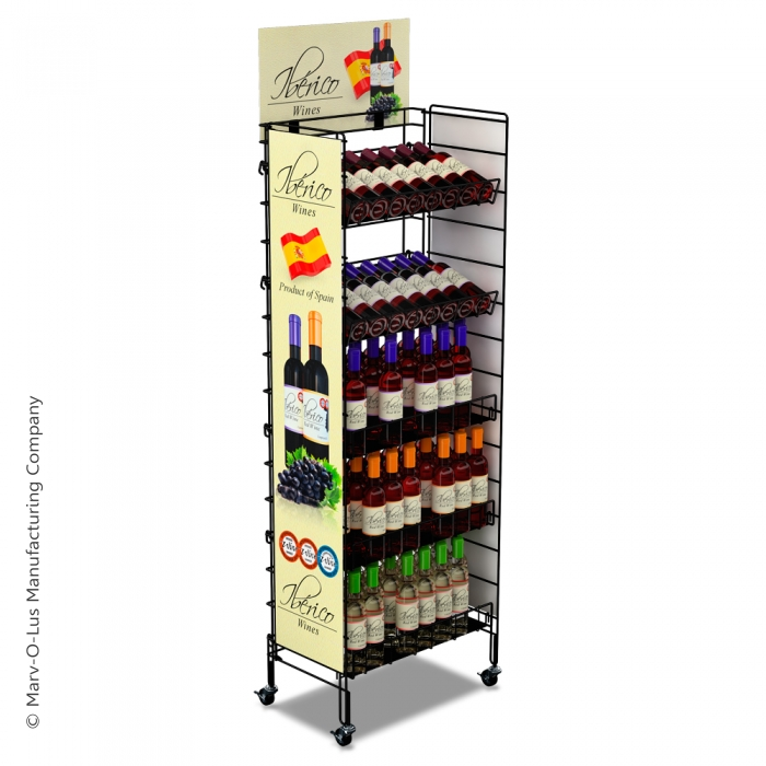 """Brand-Building Fold-Up Floor Display (24"""" Wide) with Reinforced Shelves"""