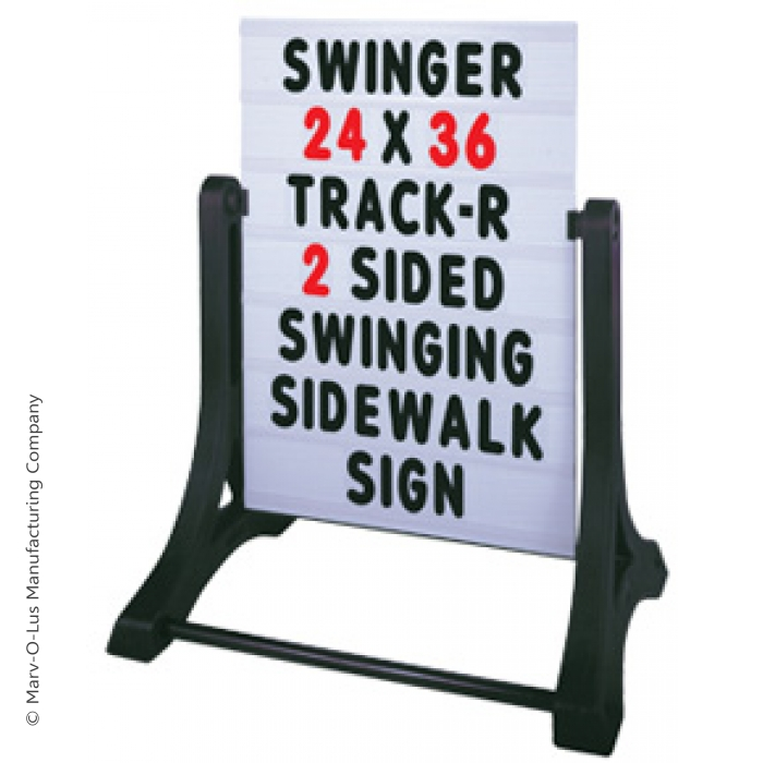 Swinger Message Board Sidewalk Sign with Changeable Letters (White)