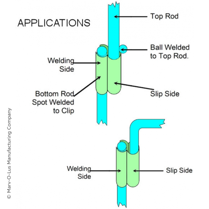"Welding Clip (Joins 5/16"" to 1/4"" Wire)"