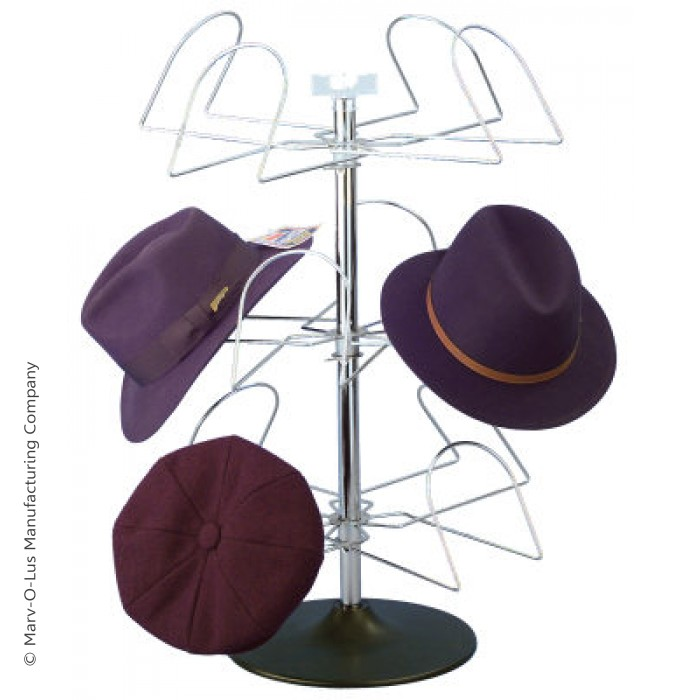 12 hat men 39 s countertop display spinner rack hat