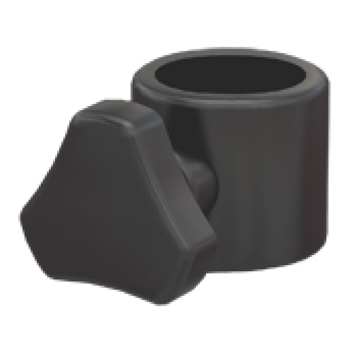 "Thumb Screw Clamp - Black (for 1"" display tubes)"