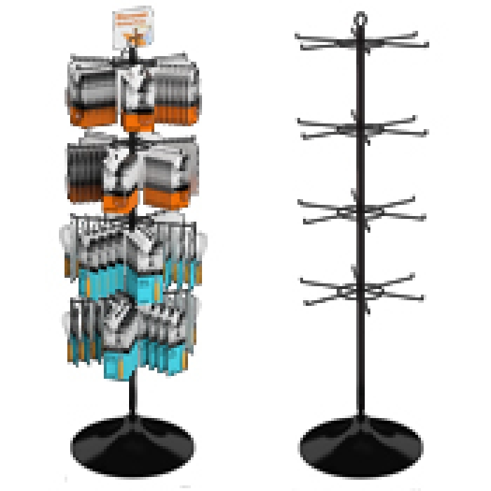 "24-Hook Economical Display for Hanging Merchandise up to 5"" Wide (Plastic Floor Base)"