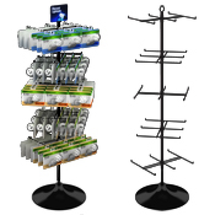 "30-Hook Economical Display for Hanging Merchandise up to 7.25"" Wide (Plastic Floor Base)"