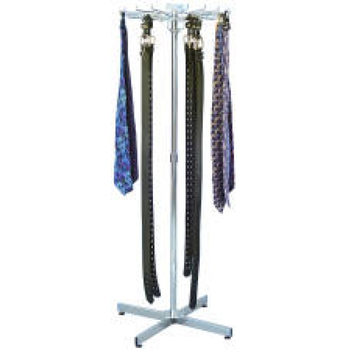 18-Hook Belt/Tie Floor Display Rack